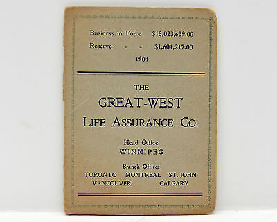 Great West Life Assurance Co Advertising Stitching Booklet with Needles 1904