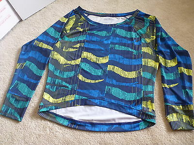 NEW womens reebok long sleeve shirt top blouse loose stretch s small NWOT
