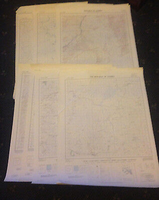 Lot Of 15 Vintage Maps -  Zambia  -  Africa