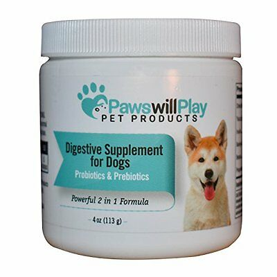 100% Naturally Derived Probiotic for Dogs with Added Prebiotic - 2 in 1 | USA