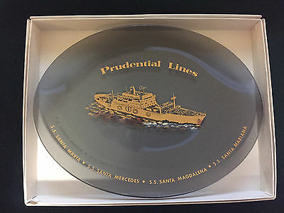 """Vintage Prudential Lines S.S. Santa Maria...Collector Plate 8 1/2"""" x 6 1/4"""""""