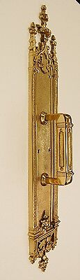 Solid Brass Architectural Door Hardware, Pull Plate - Vintage Designed