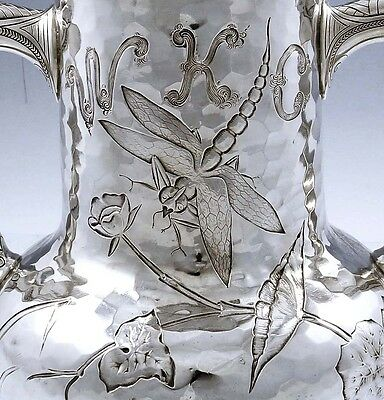 Dominick & Haff Sterling AESTHETIC VASE Loving Cup DRAGONFLIES