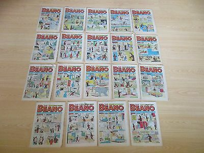 Vintage Beano Comics  Collection X 19       Aug-Dec 1973 Good Condition