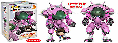 Funko Pop Game Overwatch D.VA with MEKA Action Vinyl Figure Toy #177 (In Stock)