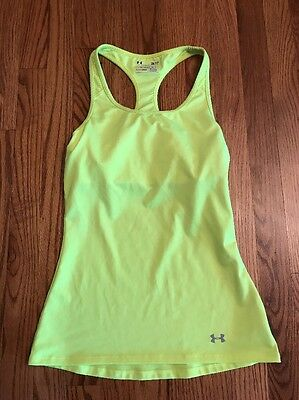 Women's Under Armour Tank Top, Bright Yellow, Size S, EUC