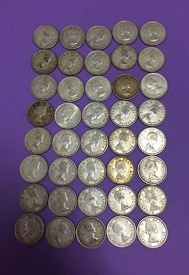 Roll of 40 Canadian 80% Silver Quarters