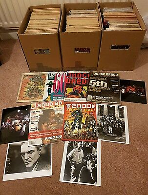 Large 440+ issue 2000ad and Judge Dredd megazine collection.