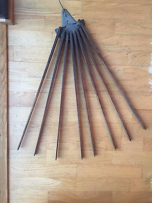 """Vintage Hanging Wood Clothes Dryer Drying Rack Wooden 8 Swing Arms 48"""" spread"""
