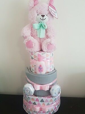 3 Layer Girl Nappy cake