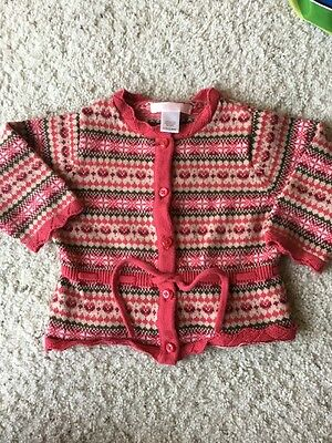 Janie And Jack Baby Girls Cardigan Size 6-12 Months