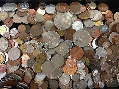 Wholesale Lot 6 Lbs Mixed Foreign World Coins! Assorted Countries