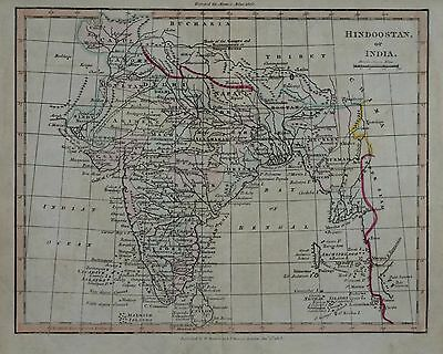 Hindoostand Or India For Adam's Atlas 1803.