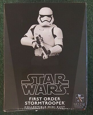 Gentle Giant Star Wars First Order Storm Trooper Collectible Mini Bust LIMITED