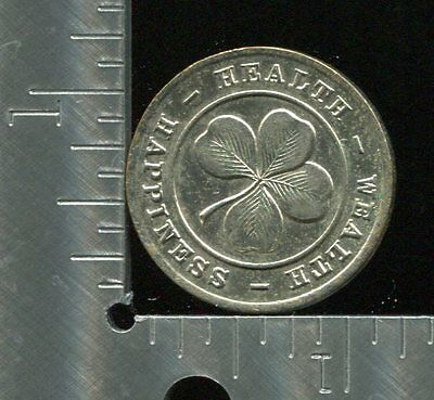 Token Health Wealth Happiness Tyche My Mascot brings me Good Luck [1523]