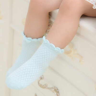Baby Toddler Kids Girls Boys Floral Lace Mesh Thin Soft Cotton Ankle Socks US