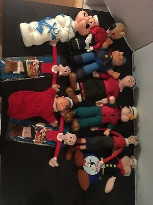 Lot Of 10 Popeye Olive Oyl And Sweet Pea Collectable Dolls