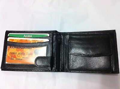 Mens Wallet Leather Credit Cards Holder - Black (AEW-07)