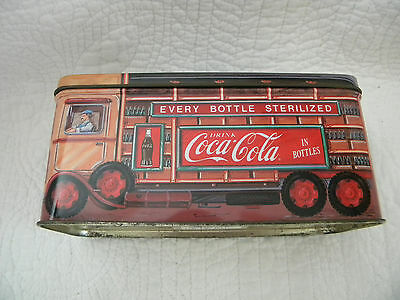 Coca-Cola Lidded Bristol Ware Tin Great Collectable- 1999, Delivery Truck