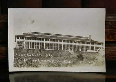 Real Photo Postcard RPPC Recreation Building at Guantanimo Bay in Cuba PC