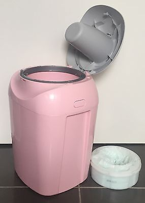 Pink Tommee Tippee Closer To Nature Sangenic Nappy Disposal System & Cartridge