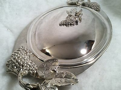 Large Silve  Serving Platter AND COVER  GSA
