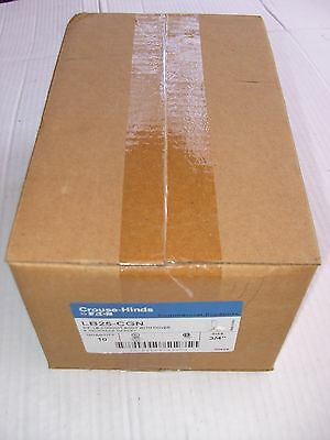 """Case Of Crouse-Hinds Lb25-Cgn 3/4"""" C Conduit Body W/cover (10 Pcs)"""
