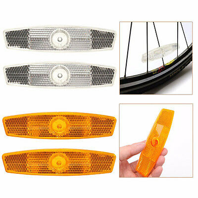 1 pair Warning Lights Wheel Reflective Mountain Bike Bicycle Spoke Reflector