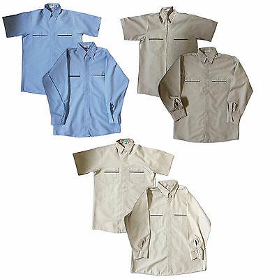 NEW! Industrial Uniform Work Uniform Shirts Cotton Blend - Many Colors