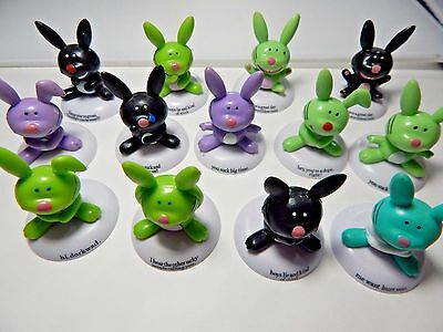 Its Happy Bunny Figurines with Rude Sayings Gag Gifts Party Favors 13 Pieces