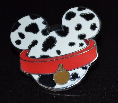 Disney 101 Dalmatian Mickey Head Mystery Pin New Out Of Pack