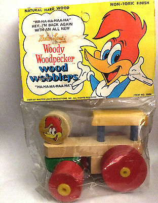 1973 Woody Woodpecker Wood Wobblers by Walter Lantz Original Package #5500