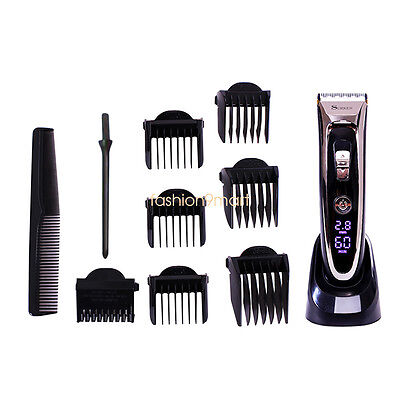 SURKER Men Hair Clippers Hair Trimmer LED Display Haircut Kit Blade Rechargeable