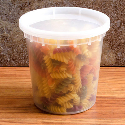 Pack of 10 Plastic Deli Food Container 24 oz DeliTainer with Lids