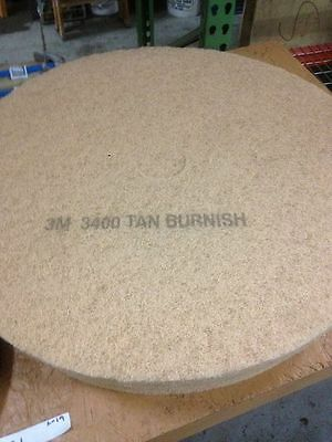 3M Ultra High-Speed Reusable Floor Burnishing Pads 3400 27-Inch Tan 20322