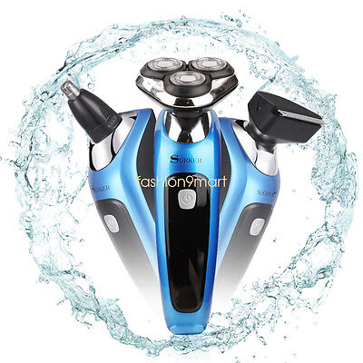SURKER Men Electric Shaver Rotary Shaver 3 in 1 With Nose Trimmer Sidebums Razor
