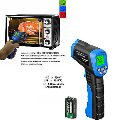 Non-Contact Gun Temperature Infrared IR Laser Digital Thermometer Meat Cooking