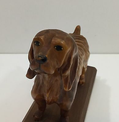 Antique American Folk Art Dog Carving Of A Cocker Spaniel