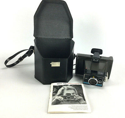 Vintage Polaroid Colorpack II Instant Film Land Camera With Case & Manual Bundle