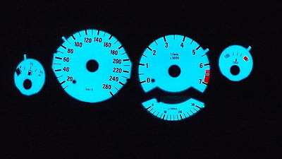 for BMW E34 Plasma Speedo Disks Built 88-94 White Black, Green Blue glowing
