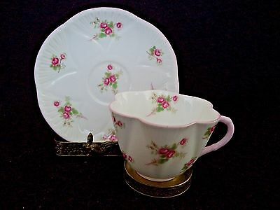 Shelley porcelain china cup and saucer Bridal Rose in Dainty blank English