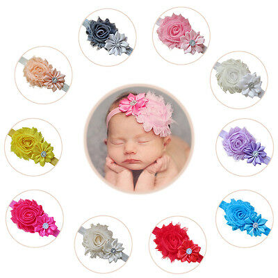 10PCS Baby Girl Toddler Infant Flower Headband Hair Bow Band Hair Accessories ##
