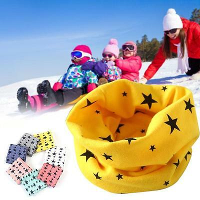 Winter Warm Boys Girls Collar Baby Scarf Children Stars O Ring Neck Scarves BS1