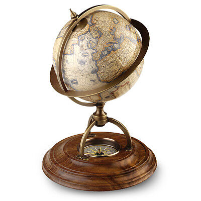 NEW Authentic Models Terrestrial Globe with Compass