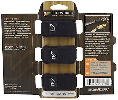 Gruv Gear FretWraps 3 Pack String Muters, Small, Black