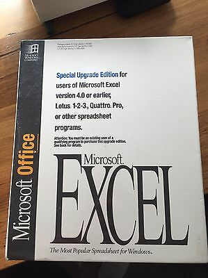 Vintage Microsoft Office Excel Version 5.0 - 1993 - NEW & SEALED