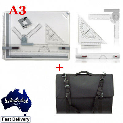 A3 Drawing Board  With Parallel Motion & Adjustable Angle Drafting +Carry Bag