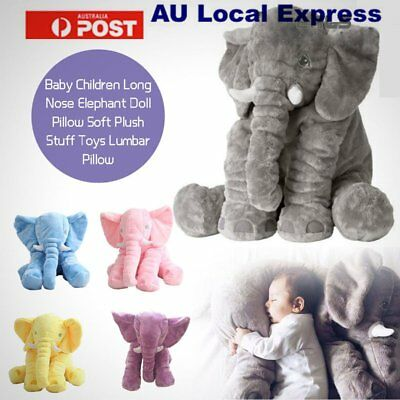 Soft Plush Stuff Toys Baby Children Gift Long Nose Elephant Doll Lumbar Pillow R