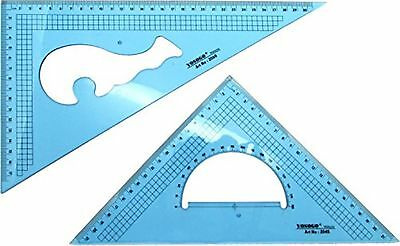 Set of 2 Large Metric Triangle Set Square: 12 Inch (30 cm) 30/60 Degree &...