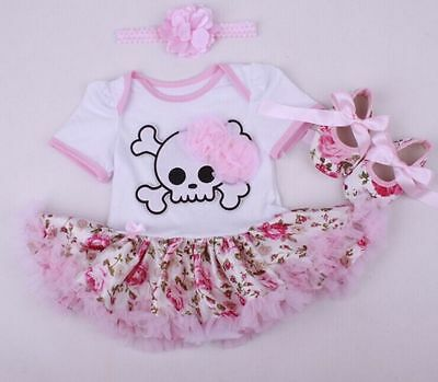 "22"" Reborn Doll Clothes Dress Newborn Baby + Headdress+ Shoes for baby doll"